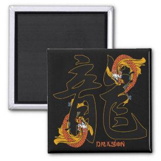 Kanji Koi Fish Dragon Magnet
