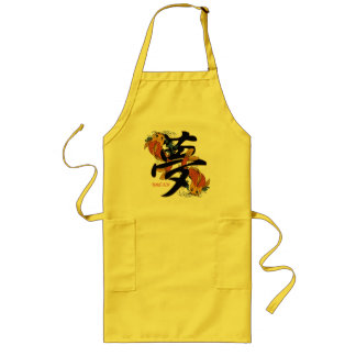 Kanji Koi Fish Dream Long Apron