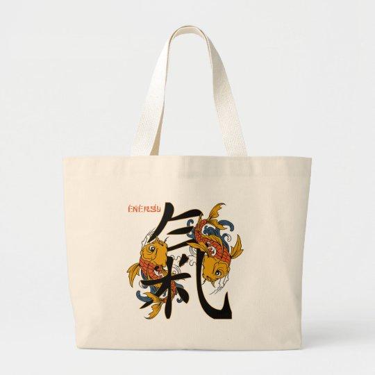Kanji Koi Fish Energy Large Tote Bag