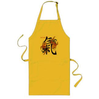 Kanji Koi Fish Energy Long Apron