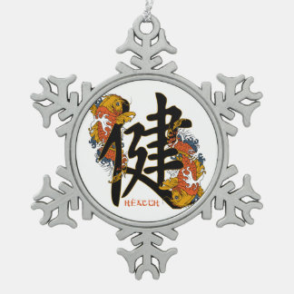 Kanji Koi Fish Health Ornaments