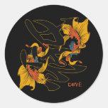 Kanji Koi Fish Love Classic Round Sticker