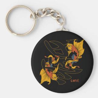 Kanji Koi Fish Love Basic Round Button Keychain