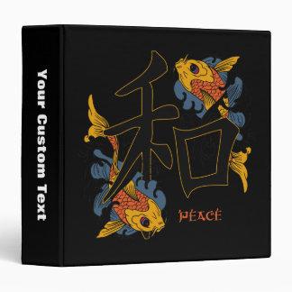 Kanji Koi Fish Peace Binder