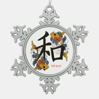 Kanji Koi Fish Peace Ornament