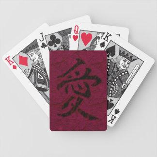 Kanji Love Playing Cards