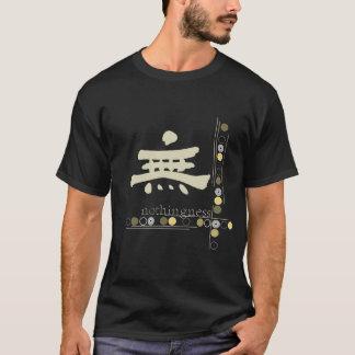 Kanji, Nothingness Design Black T-shirt