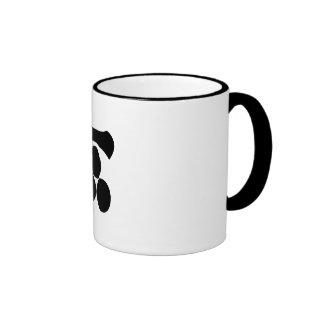 Kanji numeral one and three stars coffee mugs