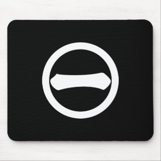Kanji numeral one in circle mouse pad