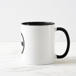 Kanji numeral one in circle mug