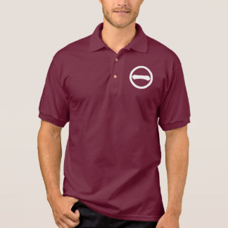 Kanji numeral one in circle polo shirt