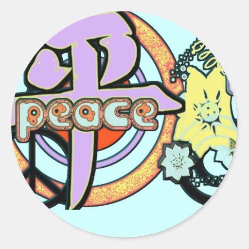 Kanji para el pegatina de la paz -