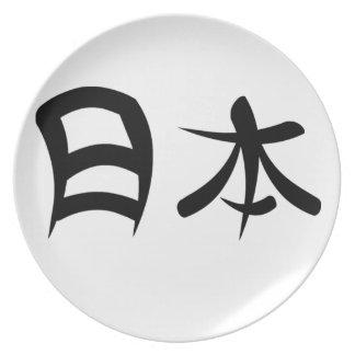 Kanji para Japón Platos
