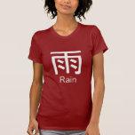 Kanji para la camiseta de la lluvia