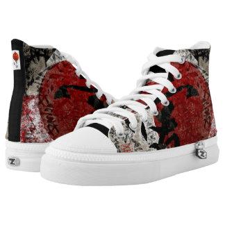Kanji Peace, Love and Hope High-Top Sneakers