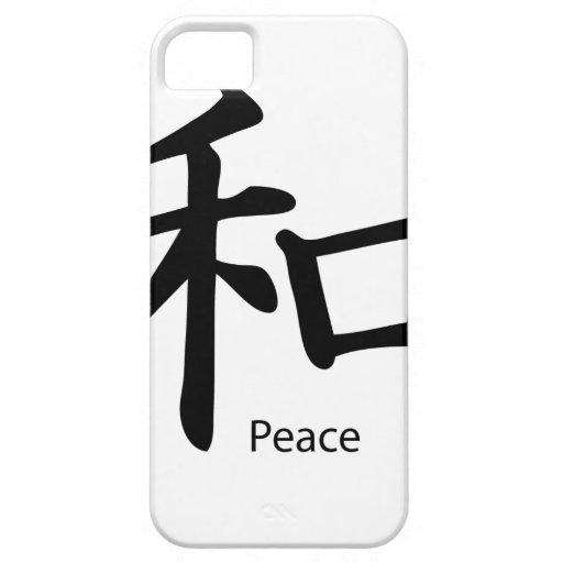 Kanji Peace Symbol in Ink Black iPhone 5 Cases
