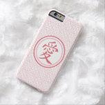 Kanji rosado precioso funda de iPhone 6 barely there
