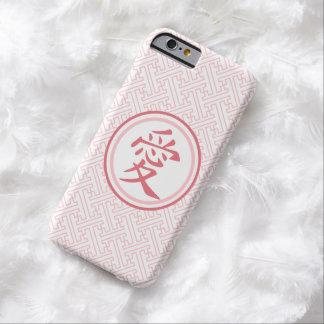 Kanji rosado precioso funda barely there iPhone 6