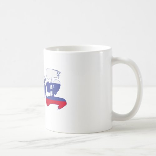 [Kanji] Russia Coffee Mug brushed kanji