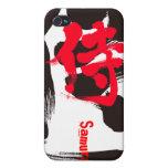 [Kanji] Samurai iPhone 4 Cover in handwriting Kanji © Zangyo Ninja