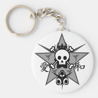 Kanji Skull Keychain