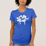 [Kanji] stylish Tee Shirts in handwriting Kanji © Zangyo Ninja