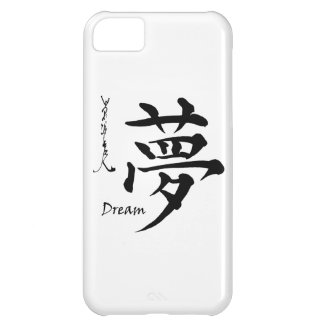 Kanji Symbol DREAM Japanese Chinese Calligraphy Cover For iPhone 5C