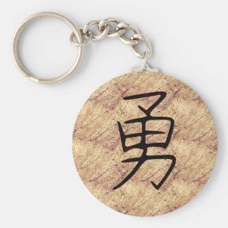 Kanji Symbol for Brave Keychain