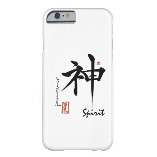 Kanji Symbol SPIRIT Japanese Chinese Calligraphy Barely There iPhone 6 Case