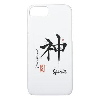 Kanji Symbol SPIRIT Japanese Chinese Calligraphy iPhone 8/7 Case