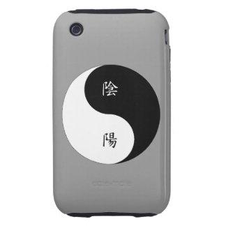 Kanji Yin Yang black n white iPhone 3 Tough Case