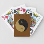 Kanji Yin Yang brown n black Bicycle Card Deck
