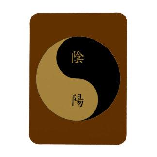 Kanji Yin Yang brown n black Rectangular Photo Magnet