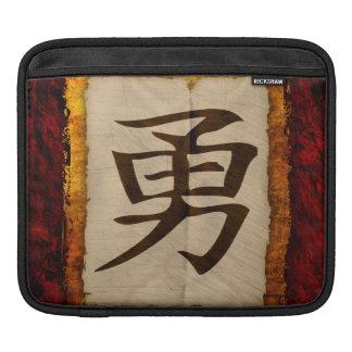 Kanji Zen Brave iPad Sleeve