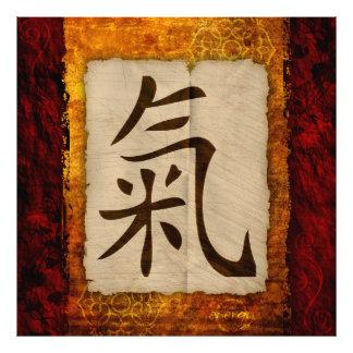 Kanji Zen Energy Photo Print