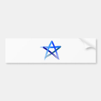 Kanjiz illustration : STAR Bumper Sticker