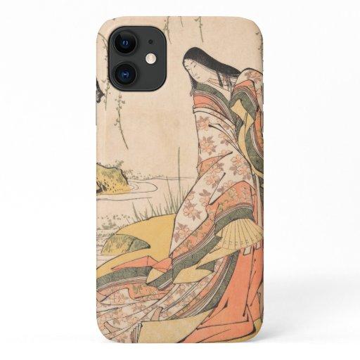 Kanjo A Court Lady Torii Kiyonaga japanese beauty iPhone 11 Case