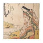 Kanjo una belleza del japonés de señora de corte T Azulejos Ceramicos
