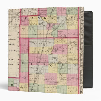 """Kankakee, Iroquois, condados de Ford Carpeta 1 1/2"""""""