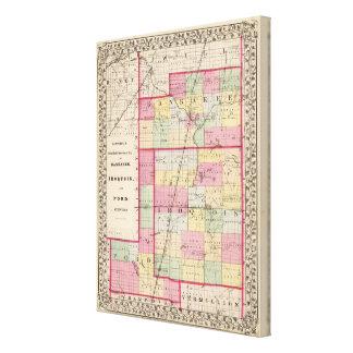 Kankakee, Iroquois, condados de Ford Impresión En Lienzo
