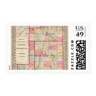 Kankakee, Iroquois, condados de Ford Sello Postal