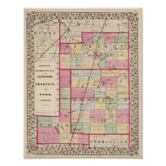 Kankakee, Iroquois, Ford counties Poster