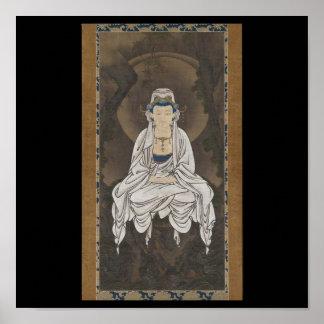 Kannon, Bodhisattva de la compasión C. 1500's Póster