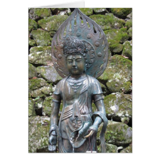 Kannon (Kwan Yin) statue on Mt. Kurama ~ Greeting Card