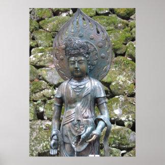 Kannon (Kwan Yin) statue on Mt. Kurama Posters