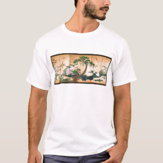 Kano Eino Birds and Flowers of Spring and Summer T-Shirt