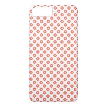 """""""Kanoko"""" Fawn Spot Pattern Salmon Pink iPhone 8 Plus/7 Plus Case"""