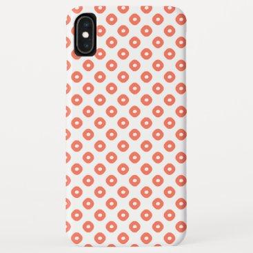 """Kanoko"" Fawn Spot Pattern Salmon Pink iPhone XS Max Case"