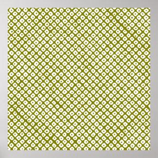 kanoko-shibori (olive) poster