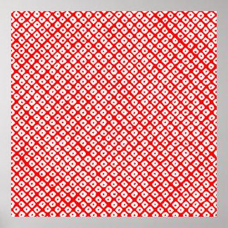 kanoko-shibori (red) poster